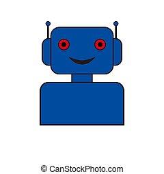 serviço, chatbot, apoio, robô, conceptvoice, ícone