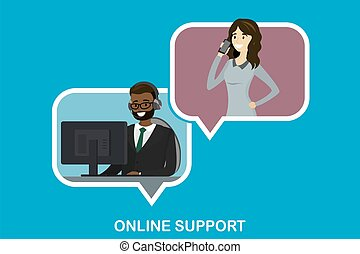 serviço, cliente, conceito, online, apoio