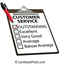 serviço freguês, forma, excelente, relatório, avaliação