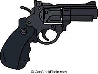 shortinho, revólver, recente