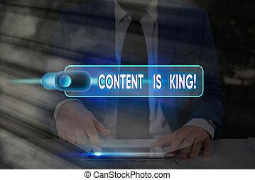 significado, king., conteúdo, focalizado, crescendo, non, marketing, results., escrita, pago, letra, visibilidade, texto, conceito, busca
