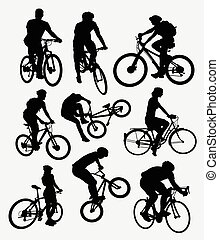 silhuetas, ciclismo