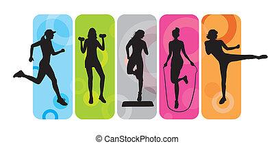 silhuetas, condicão física