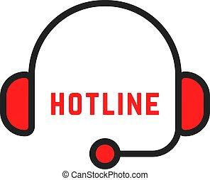 simples, abstratos, linha, magra, hotline, logotipo