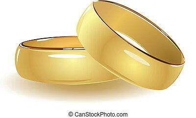 simples, anéis, casório