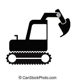 simples, geomã©´ricas, arte, escavador, ilustração