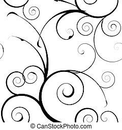 simples, mono, padrão floral