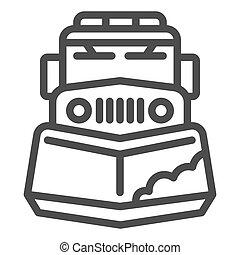 sinal, ícone, graphics., teia, branca, inverno, arado, móvel, neve, conceito, fundo, conceito, ícone, esboço, caminhão, máquina, vetorial, linha, estação, remoção, trator, design., estilo