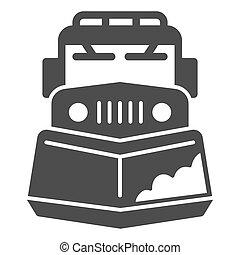 sinal, ícone, graphics., teia, branca, inverno, arado, móvel, neve, conceito, fundo, conceito, ícone, glyph, caminhão, máquina, sólido, vetorial, estação, remoção, trator, design., estilo
