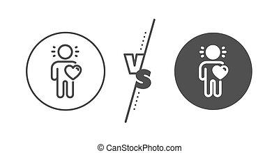 sinal., amor, vetorial, business., icon., assistência, linha, amizade, amigo