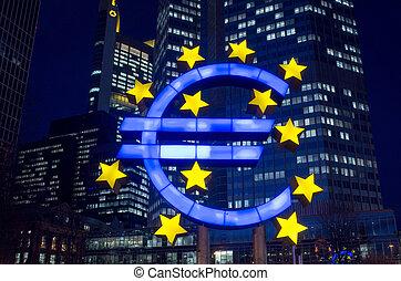 sinal, euro