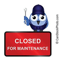 sinal fechado, manutenção