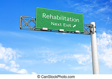 sinal rodovia, reabilitação, -
