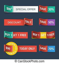 site web, desconto, fitas, venda, cobrança