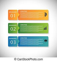 site web, este, sequência, &, usado, etiquetas, banners., marketing, passos, vetorial, infographic, coloridos, gráfico, simples, -, ser, apresentações, anunciando, etc, webdesigns, materiais, negócio, lata