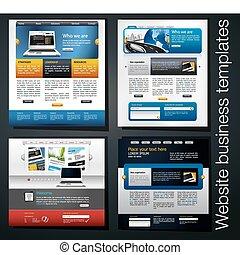 site web, exclusivo, negócio, modelo
