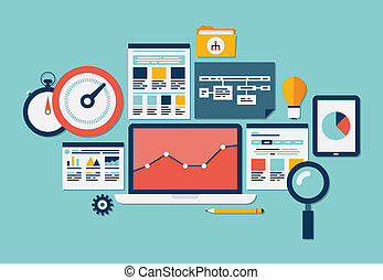 site web, seo, analytics, ícones
