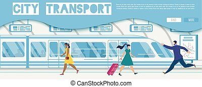 site web, serviço, vetorial, online, transporte público