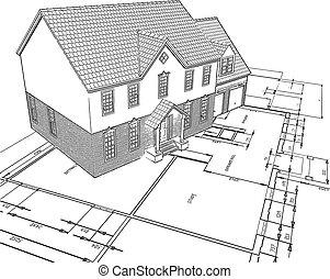 sketched, planos, casa