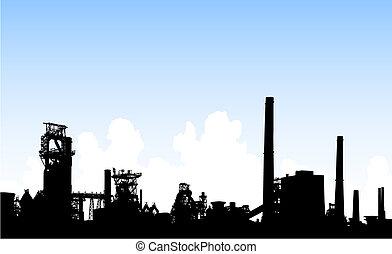 skyline, industrial