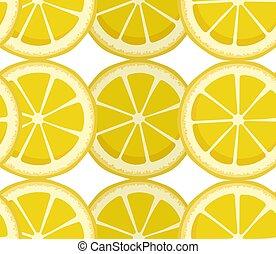 slices., desenho, redondo, bebidas, fruta, macio, limão, padrão, limonada, texture., soda, positivo, vetorial, planejador, color., caderno, infinito, print., advertising., amarela, seamless, fundo, cobertura