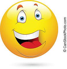 smiley, rir, rosto