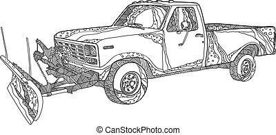 snow-plow-truck-doodle