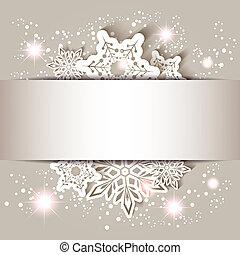 snowflake, estrela, cartão natal, saudação