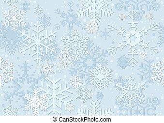 snowflake, papel natal, azul