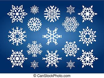 snowflakes, (vector)
