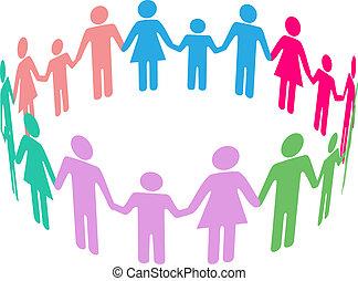 social, diversidade, família, comunidade, pessoas