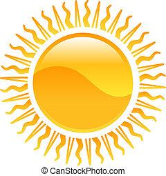 sol, clipart, ícone