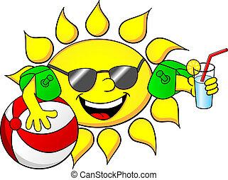 sol, férias, verão