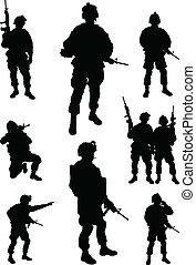 soldados, exército