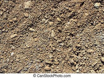 solo, texture., pedregoso, chão