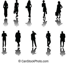 sombra, pessoas negócio