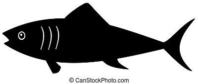sombra, pretas, peixe