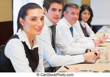 sorrindo, equipe negócio