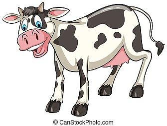 sorrindo, vaca