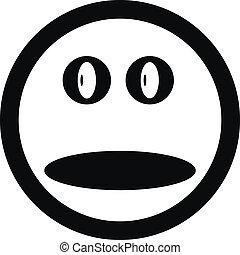 sorrizo, botão, rosto
