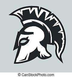 spartan, guerreira, capacete