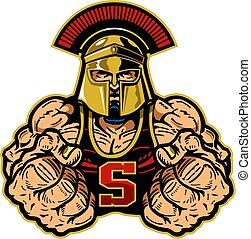 spartan, mascote
