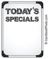 specials, whiteboard, giz, escrito, today's, mensagem