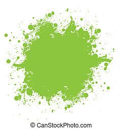 splatter, verde, tinta