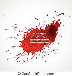 splatter, vetorial, vermelho, tinta