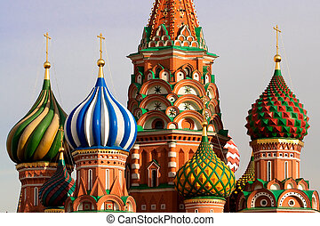 st., rússia, moscou, basil's, cathedral.