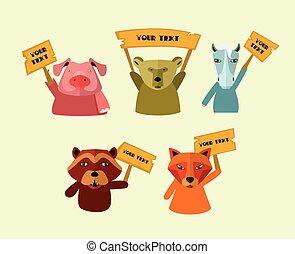 strike., vetorial, animais estimação, ilustração