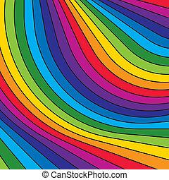 stripes., arco íris, abstratos, coloridos, vector.