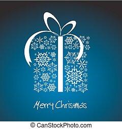stylized, caixa, presente natal