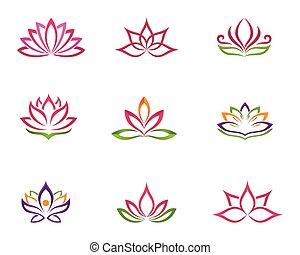 stylized, logotipo, loto